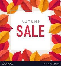 Fall Flyer Autumn Sale Flyer Template Bright Colorful Fall