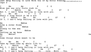 Cant Help Falling In Love With You 10 By Elvis Presley Lyrics And