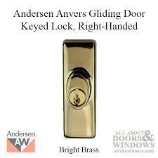 andersen window frenchwood gliding door keyed lock anvers rh bright brass