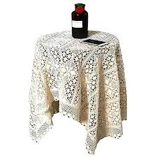 wildgirl past table topper slipcover crocheted hollow lace tablecloth round 60cm
