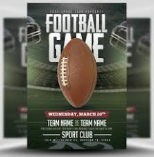 American Football Flyer Templates For Football Events Flyerheroes