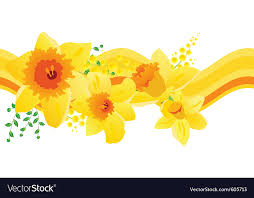 seamless pattern with daffodils vector image