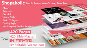 catalog template free stock powerpoint templates free download every weeks