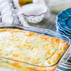 baked eggs with green chilies