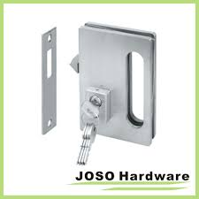 china glass door hardware sets sliding locks with key gdl001a full size