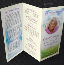 Memorial Pamphlet Template Free Tri Fold Funeral Brochure Template Memorial Brochure Templates