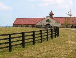 brown vinyl horse fence. Centaur Horse Fence Picture Brown Vinyl