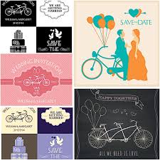 wedding vector card set with retro bicycles free download Wedding Card Vector Graphics Free Download wedding vector card set with retro bicycles Vector Background Free Download
