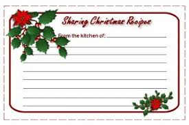 Printable Christmas Recipe Cards Printable Christmas Recipe Cards From The Christmas Cottage