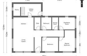 Simple Blueprint Simple House Layouts Best Art Blueprints Plans Modern Layout Design