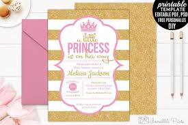 Baby Shower Invitations Template 6 Printable Princess Baby Shower Invitations Templates