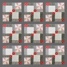 Video tutorial: disappearing 9 patch with pinwheels block | Sewn Up & Quilt design with sashing Adamdwight.com