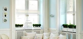 Country Blind Inspiration  SeaIvory Cambridge Stripe Blinds Country Window Blinds