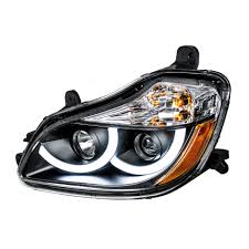 black projection headlight w led position light for 2013 kenworth black projection
