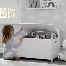 delta children toy box white