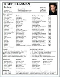 Modern Resume For Instructors Opera Resume Template Airexpresscarrier Com