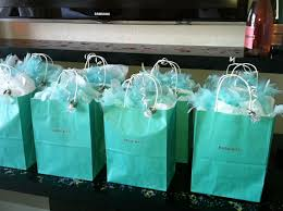 bachelorette party - Tiffany themed gift bags with