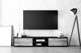 flat screen tv to a concrete wall