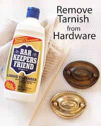 How to remove tarnish from brass metal