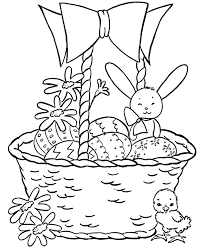 Small Picture Easter Basket Coloring Pages Easter Basket with Bunnies and