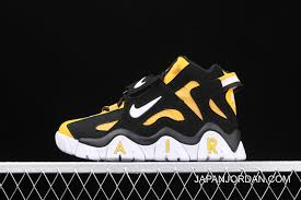 Women Men Nike Air Barrage Mid Qs Black Yellow White For