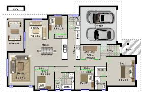 image for four bedroom house plans
