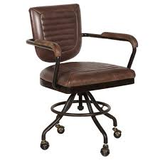 brown leather office chair. Contemporary Leather In Brown Leather Office Chair E