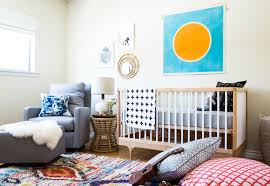 a hand tufted west elm rug with a traditional moroccan pattern set the palette for