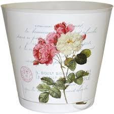 горшок для цветов ingreen борнео с поддоном цвет мраморный диаметр 21 см