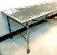 distressed metal furniture. delighful metal aged distressed steel dining table vintage jennifer price studio solo cedros on distressed metal furniture n
