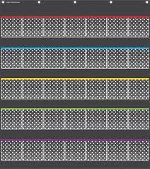 Teacher Chart Storage Teacher Created Resources 35 Pocket Polka Dots Storage Chart Black