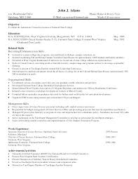 Good Resume Skills Example Job Resume Skills Good Examples Of Skills And Abilities For 20