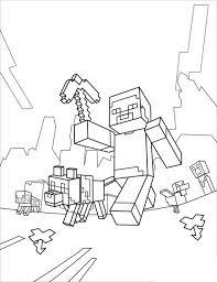 Minecraft Vrienden Kleurplaat Kids N Fun 19 Kleurplaten Van