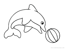 Coloring Pages Of Dolphins Printable Dolphins Coloring Sheets