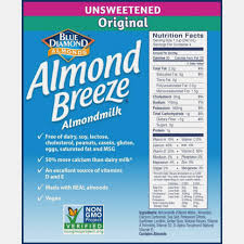 almond breeze almondmilk unsweetened original 13 oz pack of 13