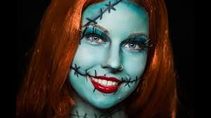 nightmare before sally makeup tutorial no face paint needed