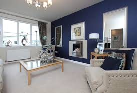 Show Home Living Room At Laird's Gate, Dukeswood Feature Wall Design For Living  Room Great