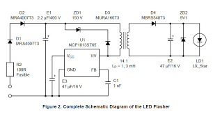 led flasher circuit diagram luxeon v star led