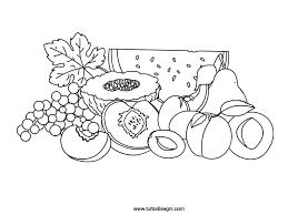 Bello Disegni Da Colorare Frutti Estivi Migliori Pagine Da