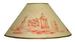 hand painted lampshade chinoiserie