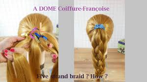 Comment Faire Natte Tresse 5 Branches Brins How To Make 5 Strand