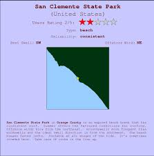 San Clemente Tide Chart San Clemente State Park Surf Forecast And Surf Reports Cal