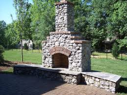 oklahoma rip rap outdoor fireplace charlotte outdoor stone fireplace