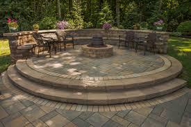 unique building a fire pit with retaining wall blocks raised paver patio gas fire pit sitting