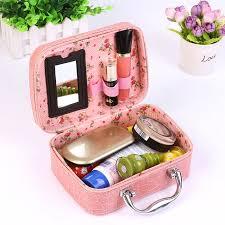 yanzi crocodile jewellery large capacity makeup box cosmetic storing square 2017 handbag travel pockets organizer bag f407 in cosmetic bags cases from