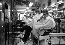 dennis stock james dean photos of a rising star com james dean at a barber shop near times square new york 1955