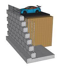 reinforced concrete block retaining wall