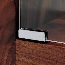 polished chrome glass door pivot hinges
