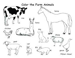 printable pictures of animals to color. Delighful Printable Zoo Animal Coloring Pages With Baby Farm Animals Page Free Printable  Sheets Sheets For Pictures Of To Color R