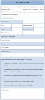 Proposal Evaluation Template